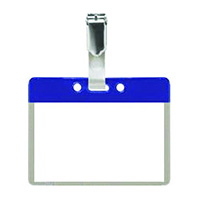Pack of 25 Colour Coded Clip on Badges - Blue