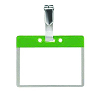 Pack of 25 Colour Coded Clip on Badges - Green