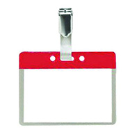 Pack of 25 Colour Coded Clip on Badges - Red