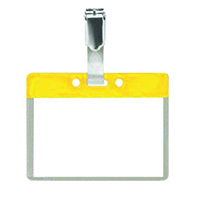 Pack of 25 Colour Coded Clip on Badges - Yellow