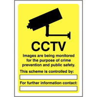 CCTV Images are being monitored 420x297mm 1.2mm Rigid Plastic Safety Sign