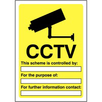 CCTV This Scheme is controlled by  420x297mm 1.2mm Rigid Plastic Safety Sign