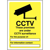 CCTV These Premise are under 420x297mm 1.2mm Rigid Plastic Safety Sign