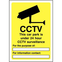 CCTV This car park is  420x297mm 1.2mm Rigid Plastic Safety Sign
