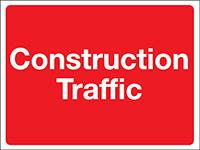 300x400mm Construction Traffic Construction Sign - Rigid
