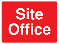 Thumbnail 300x400mm Site Office Construction Sign - Rigid