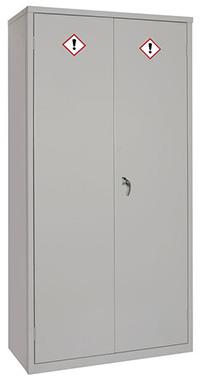 COSHH Cabinet - 1830 x 915 x 457mm  HxWxD  3 doors  2 shelves   Sump capacity 15L