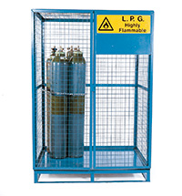 Lock-Up Cage With Pallet Base - 1095D - Galvanised