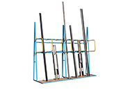 Vertical Storage Racks with Hoop Divider - 3 Compartment - Extension Bay