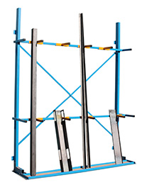 Vertical Storage Racks with Bar Divider - 5 Compartment  c/w 8 Dividers  - Extension Bay