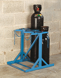 Low Height Double Sided Floor Stand - 4 Cylinder