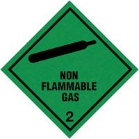 100x100mm Non Flammable Gas Self Adhesive Hazard Warning Diamonds