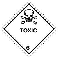 100x100mm Toxic Hazard Warning Diamonds