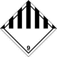 200x200mm Misc Class 9 Hazard Warning Diamonds