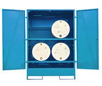 Fully Enclosed Drum Storage - Horizontal - 2 Drum