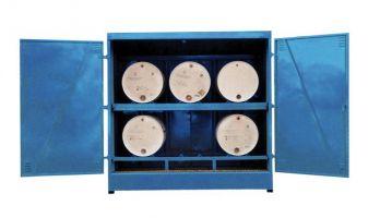 Horizontal Drum Storage - 6 Drums