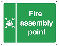 Fire assembly point  300x450mm 0.9mm Aluminium Safety Sign
