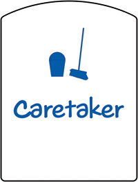 Caretaker School Sign 400x300mm 1.2mm Rigid Plastic Safety Sign