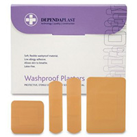 Pink Washproof Plasters Assorted  Pk 100