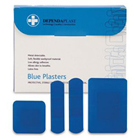 Blue Detectable Plasters Assorted  Pk of 100