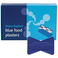 Blue Detectable Fingertip Plasters  Pk of 50