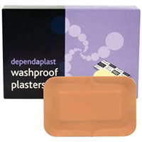 Pink Washproof Patch Plasters  Pk 100