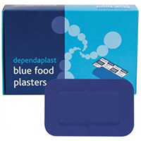 Blue Detectable Patch Plasters  Pk of 50