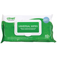 Clinell Universal Wipes  Pk of 40 Wipes