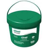 Clinell Universal Wipes  Bucket of 225 Wipes