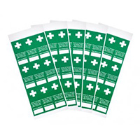 Tamperproof First Aid Inspection Labels - Pack 45