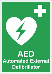 Automated External Defibrillator  210x148mm 1.2mm Rigid Plastic Safety Sign