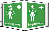Emergency shower Projecting 3D Sign 200x400mm  Safety Sign
