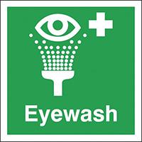 Eyewash  150x150mm 1.2mm Rigid Plastic Safety Sign