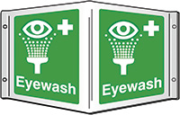 Eyewash Projecting 3D Sign 200x400mm  Safety Sign