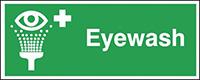 Eyewash  100x250mm 1.2mm Rigid Plastic Safety Sign