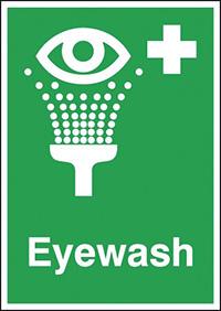 Eyewash  210x148mm 1.2mm Rigid Plastic Safety Sign