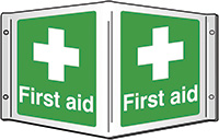 First aid Projecting 3D Sign 200x400mm  Safety Sign