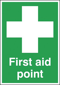 Thumbnail First Aid Point 210x148mm 1.2mm Rigid Plastic Safety Sign