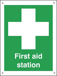 First Aid Station  400x300mm 0.9mm Aluminium Safety Sign