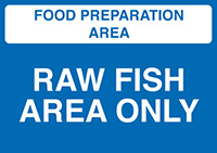 Thumbnail Food Prep Area - Salad and Fruit Area Only  148x210mm 1.2mm Rigid Plastic Safety Sign