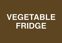 Vegetable Fridge  148x210mm 1.2mm Rigid Plastic Safety Sign