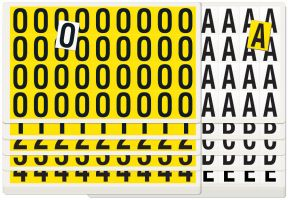 Complete Packs of Self Adhesive Numbers   Letters