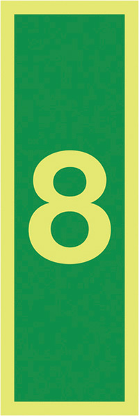 8150x50mm 1.2mm Nite Glo Rigid Safety Sign