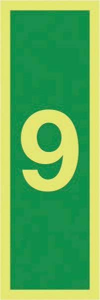 9150x50mm 1.2mm Nite Glo Rigid Safety Sign