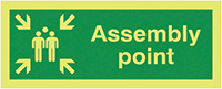 Assembly Point  400x300mm 1.2mm Nite Glo Rigid Safety Sign