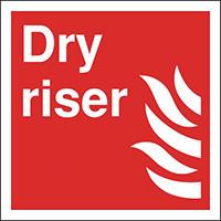 Dry Riser  200x200mm 1.2mm Rigid Plastic Safety Sign