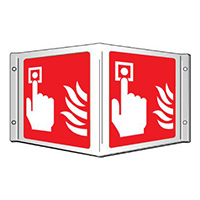 Fire alarm Projecting 3D Sign 200x400mm  Safety Sign