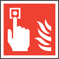 Thumbnail Fire Alarm Call Point Symbol Only  200x200mm Self Adhesive Vinyl Safety Sign