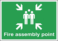 Fire Assembly Point  297x210mm 1.2mm Rigid Plastic Safety Sign