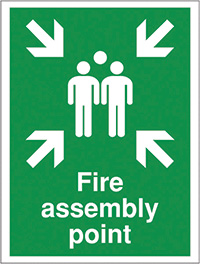 Fire assemble point 300x250mm Reflective Safety Sign